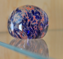 Blue and orange paperweight