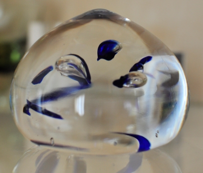 Blue drops paperweight