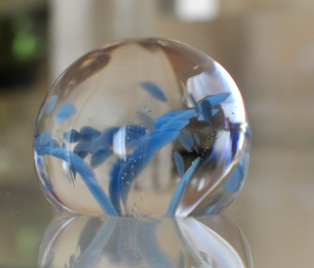 Pale blue paperweight