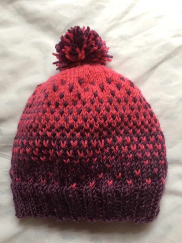 My first Fair Isle knitting