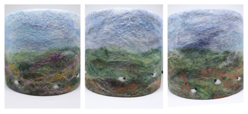 Hand felted lampshades